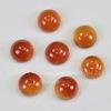 Кабошон круглый Агат Красный, 6 мм