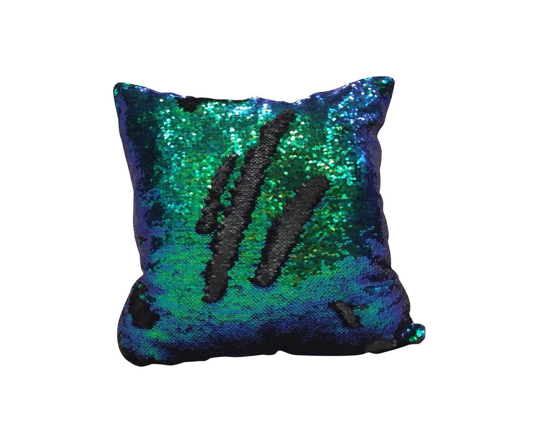 Подушка цвет зеленый-синий-черный