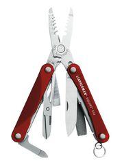 Мультитул Leatherman Squirt ES4, 13 функций, красный (подарочная упаковка)*