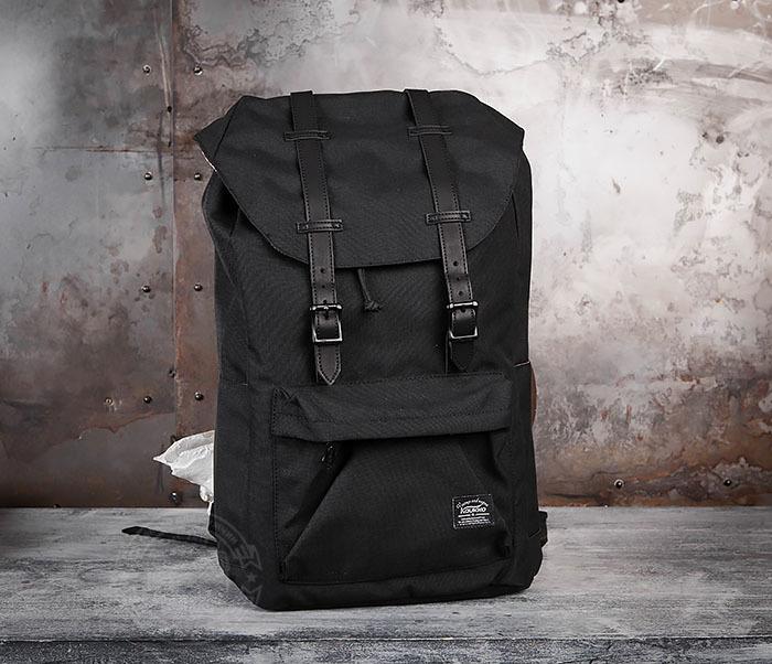BAG404-1 Мужской тканевый рюкзак черного цвета фото 02