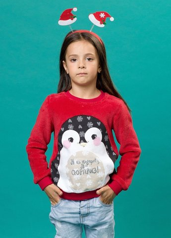 Pelican GFN3091 Толстовка для девочек красная