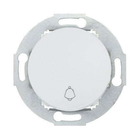Выключатель-кнопка одноклавишный (схема 1T) 10А, 250В. Цвет Белый. LK Studio Vintage (ЛК Студио Винтаж). 880504-1