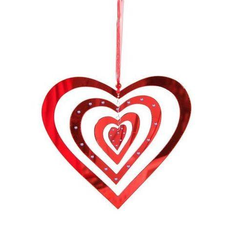 Подвеска сердце пластик 38см арт. ч20433