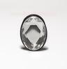 Анальная страза, анальная пробка с кристаллом овальной формы (3,5 х 8,5 см.)