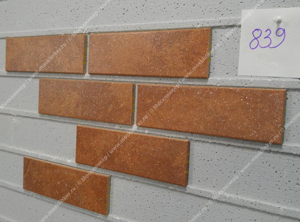 Stroeher, плитка-клинкер под кирпич, цвет 839 ferro, серия Keravette shine, glasiert, глазурованная, гладкая, 240x71x8