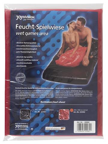 Fetish Виниловая  простынь на резинке красная (180 х 260 см.)