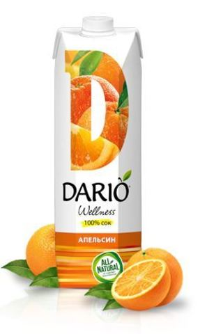 Сок DARIO Wellness Апельсиновый 1л