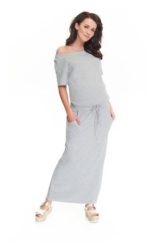 Платье 09124 серый