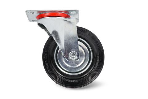 Колесо поворотное резина SC55 125мм (C-3302-SLS-125), шт