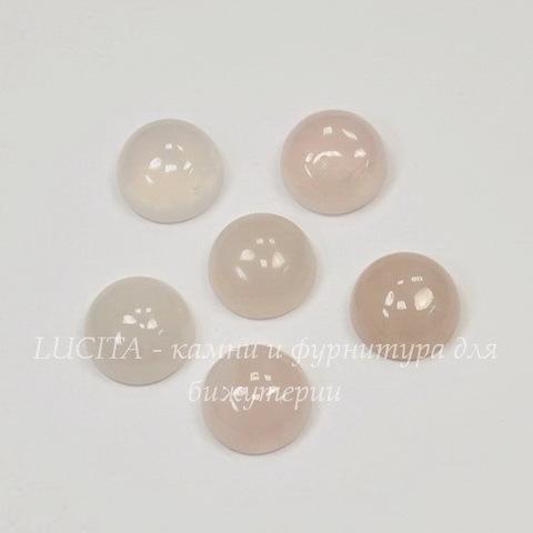 Кабошон круглый Кварц розовый, 10 мм
