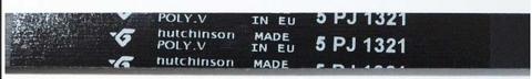Ремень для стиральной машины Indesit/Ariston (Индезит/Аристон) 1321 J5 - 104490, WN272, 1.11.000.38, 481935810052, 481281729469
