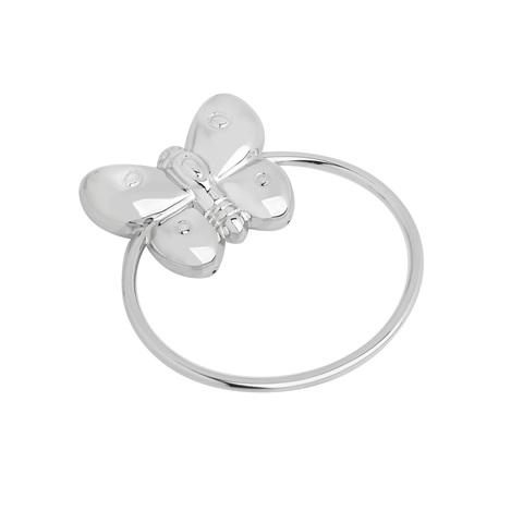 Серебряная погремушка «Бабочка»