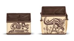 набор из 2-х органайзеров для косметики, шоколадный париж
