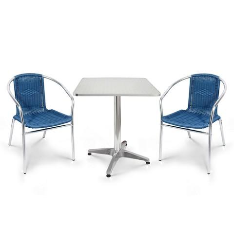 Комплект мебели  LFT-3199E/T3125-60x60 Blue (2+1)