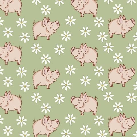 свинки на полянке