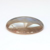 Кабошон круглый, Агат, цвет - серо-голубой, 30 мм