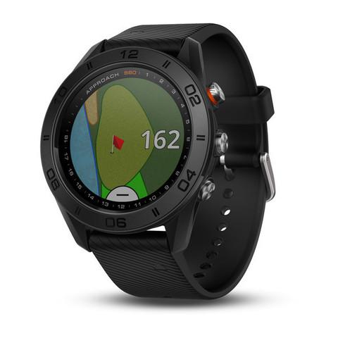 Купить Умные часы для гольфа Garmin Approach S60 чёрные с черным ремешком 010-01702-00 по доступной цене