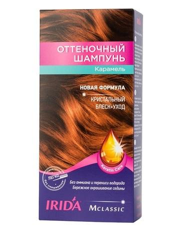 Irida Irida М classic Оттеночный шампунь для окраски волос Карамель 3*25мл
