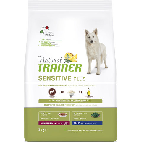 Сухой корм Natural Trainer Sensitive Plus Adult Medium/Maxi Horse