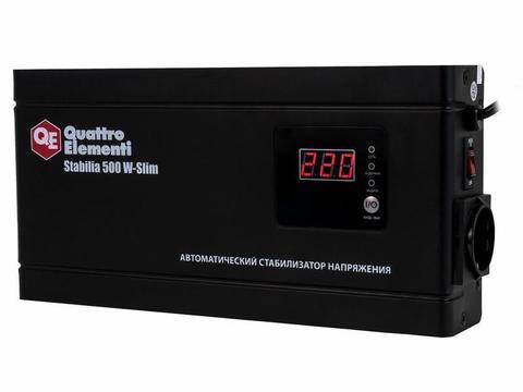 Стабилизатор напряжения QUATTRO ELEMENTI Stabilia     500 W-Slim (500 ВА, 140-270 В, 2,3 кг) Настенный