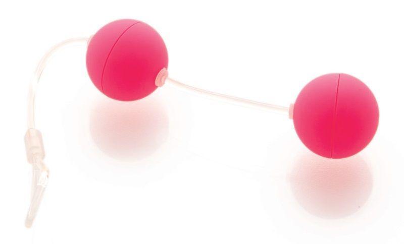 Вагинальные шарики: Розовые вагинальные шарики на прозрачной сцепке фото