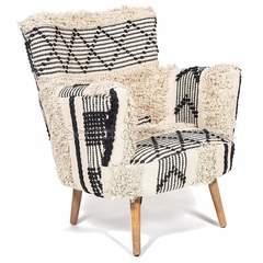 Кресло Secret De Maison ALBA — черный/белый (12295)