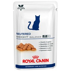 Пауч для кастрированных/стерилизованных котов и кошек, Royal Canin Neutered Weight Balance, с момента операции до 7 лет, склонных к избыточному весу