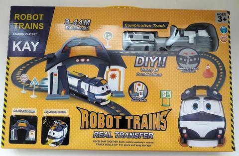 Роботы поезда Кей с вагончиками музыкальная железная дорога РТ3003