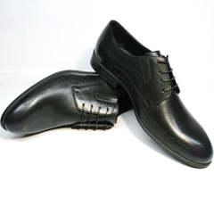 Дерби туфли кожаные мужские Ikos 3416-4 Dark Blue.