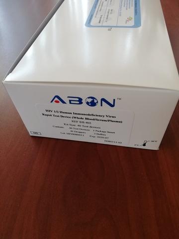 Тест-система для определения ВИЧ1/ВИЧ2 40 тест-кассет,Acon Biotech (Hangzhou) Co.,Ltd, КНР