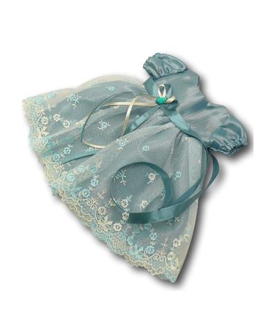 Платье из тафты - Мята 1. Одежда для кукол, пупсов и мягких игрушек.