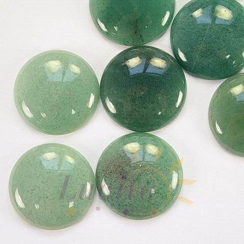 Кабошон круглый Авантюрин зеленый, 25 мм
