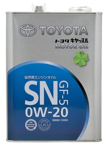 TOYOTA 0W20 SN Масло моторное синт. SN/GF-5 (железо/Япония)