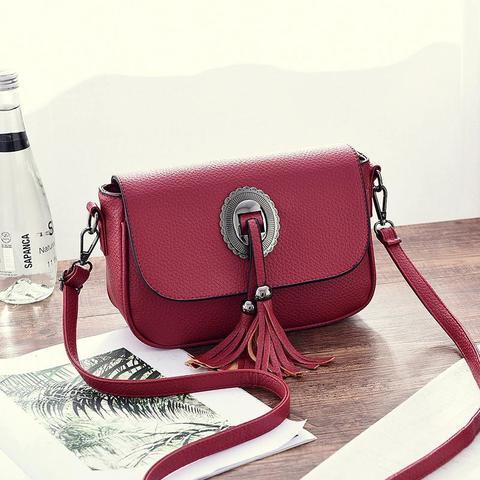 Маленькая стильная летняя женская повседневная сумочка красного цвета из экокожи Dublecity 1968 Red
