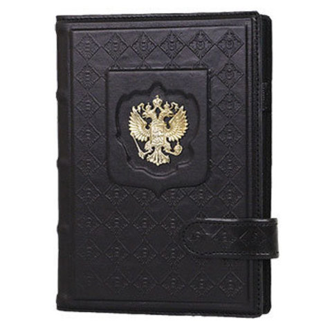 Ежедневник А5 «Россия с гербом» черный