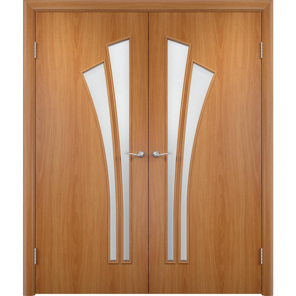 Двустворчатые двери Ветка миланский орех распашная двустворчатая со стеклом vetka-por-milan-dvertsov.jpg