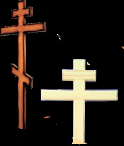 Деревянный крест на могилу из сосны