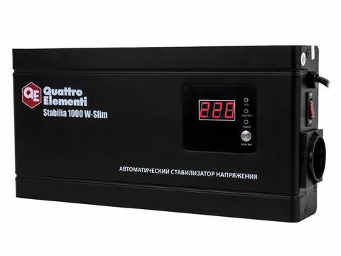 Стабилизатор напряжения QUATTRO ELEMENTI Stabilia    1000 W-Slim (1000 ВА, 140-270 В, 2,6 кг) Настенный