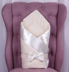 Конверт одеяло для новорожденных Beauty молочный