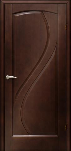 Дверь Танго ПГ (тёмный анегри, глухая шпонированная), фабрика LiGa