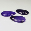 Кабошон Капля Агат фиолетовый (тониров), 40х30 мм