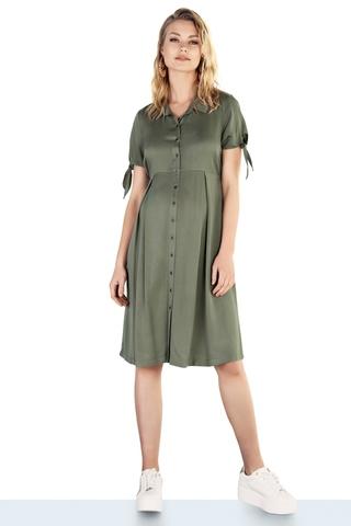 Платье для беременных 10199 серо-зеленый