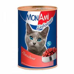 Mon Ami консервы для кошек с говядиной 350гр