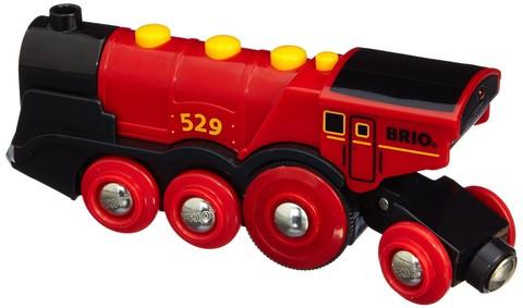 33592 BRIO Большой паровоз на батарейках, со звуковыми и световыми эффектами