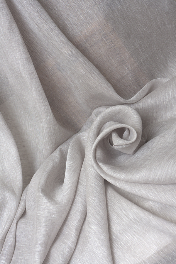 Льняная вуаль цвет КАКАО -МЕЛАНЖ