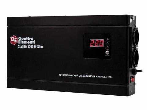 Стабилизатор напряжения QUATTRO ELEMENTI Stabilia    1500 W-Slim (1500 ВА, 140-270 В, 3,5 кг) Настенный