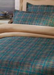 Постельное белье 2 спальное евро Mirabello Colette синее