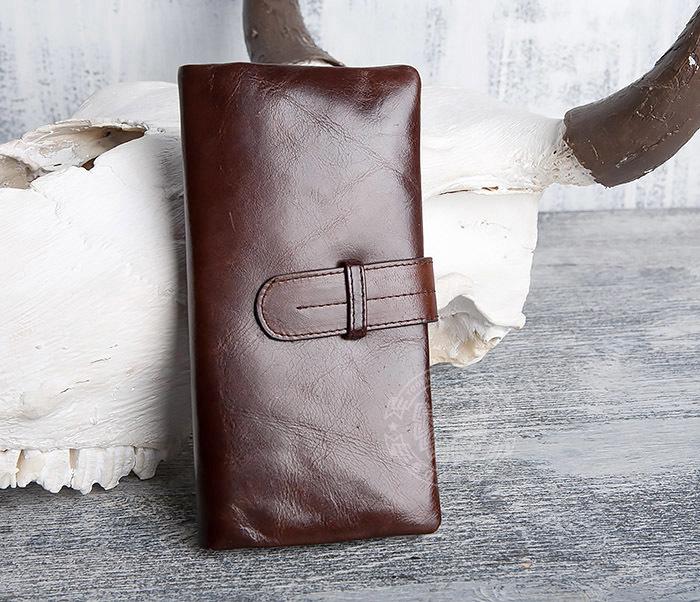 WL270-2 Мужской клатч из кожи винтажного дизайна фото 01