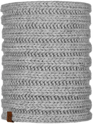 Модный шарф-труба Buff Neckwarmer Knitted Comfort Vanya Melange Grey