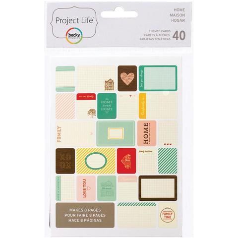 Набор карточек Project Life - Home 40 шт